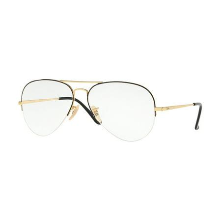 4313fb0ad2 Eyeglasses Ray-Ban Optical RX 6589 2946 GOLD TOP BLACK - Walmart.com