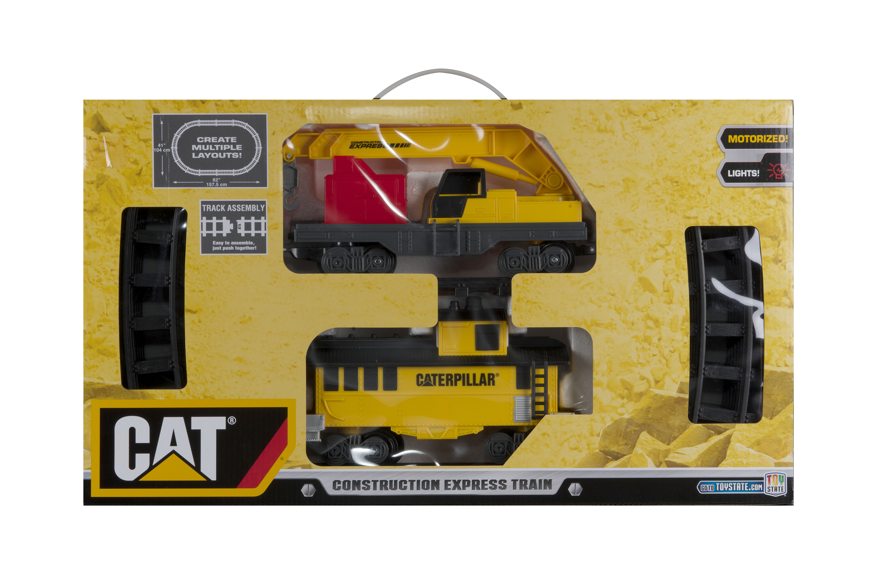 Caterpillar Construction Express Train (Double Deep Packaging) by Toy State International Limited
