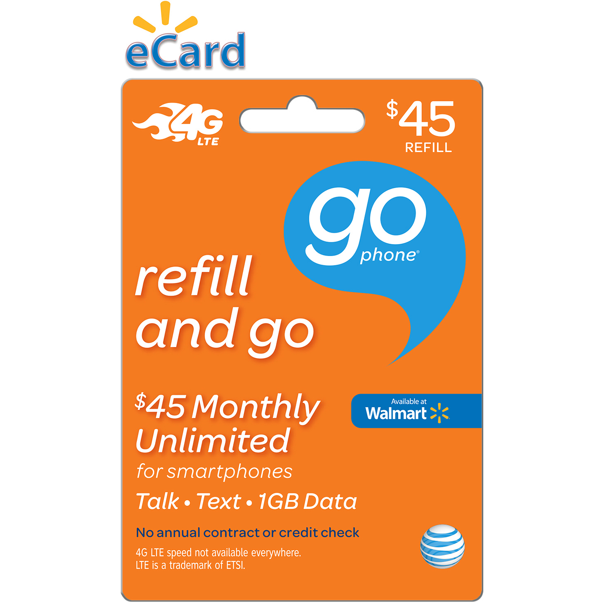 (Email Delivery) AT&T $45 Refill Airtime Card