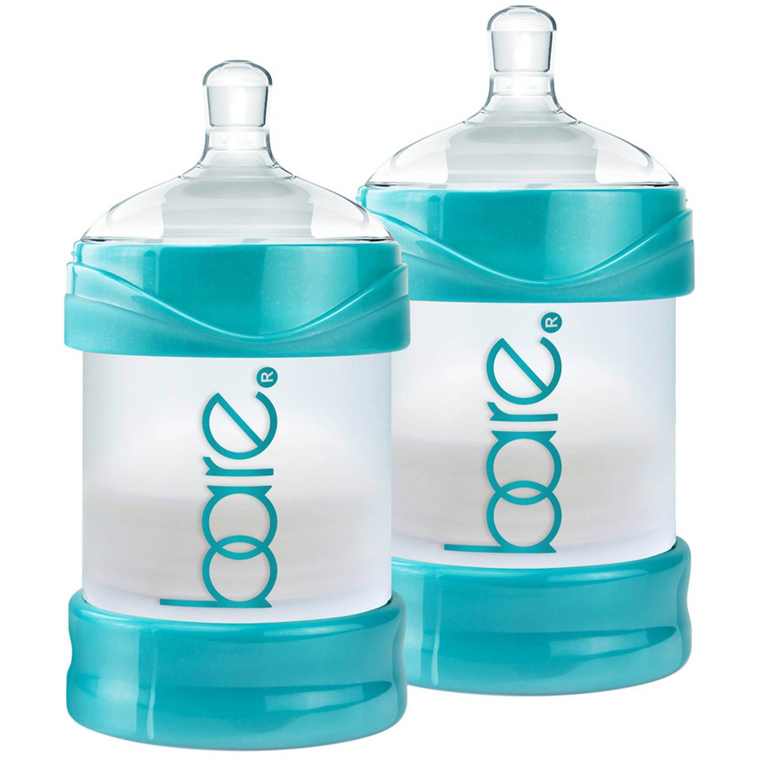 BARE Air-free 4oz Twin Pack with Easy-latch Nipples, Air-free, Anti Reflux, Anticolic by BARE AIR-FREE FEEDING SYSTEM