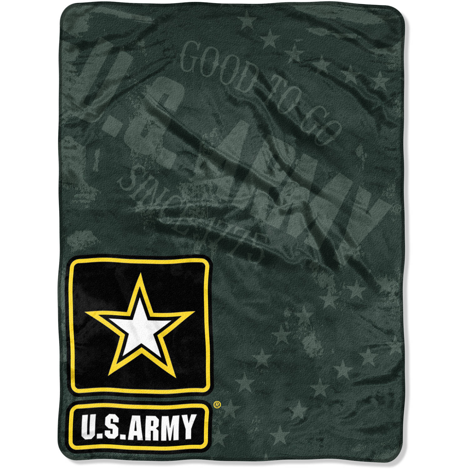 "Department of the United States Army ""Good To Go"" 46"" x 60"" Micro Raschel Throw"