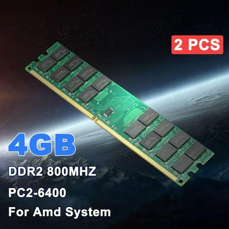 2x4GB DDR2 800Mhz PC2-6400 DIMM 240Pin For AMD CPU Desktop Memory RAM