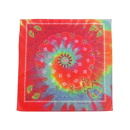 Size one size Tie Dye Paisley Print Bandana, Multi-Color