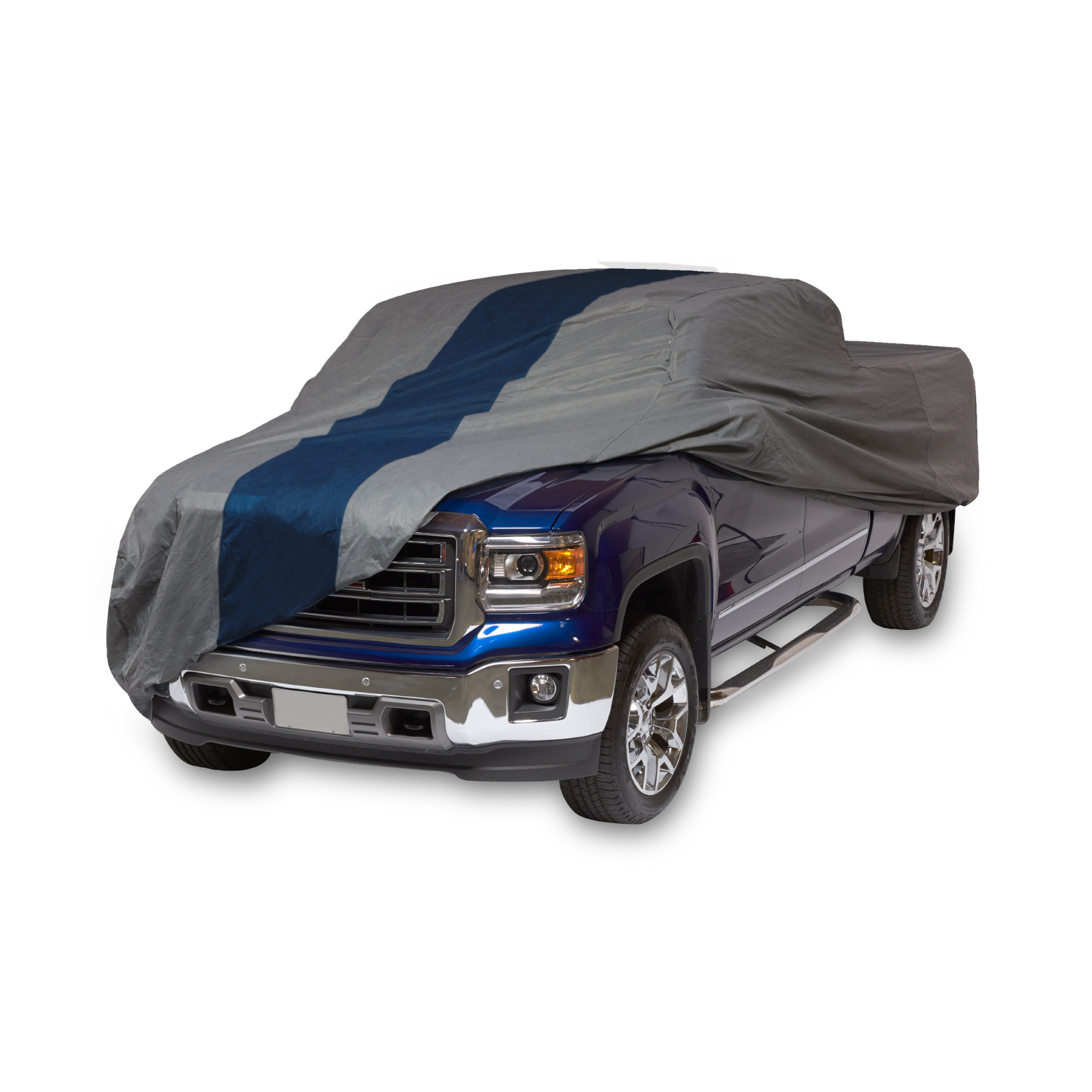 "Duck Covers 16'x5"" Double Defender Pickup Truck Automotive Cover Gray/Blue"