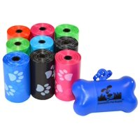 Pet Waste Bags, Dog Waste Bags, Bulk Poop Bags on a roll, Clean up poop bag refills  + FREE Bone Dispenser