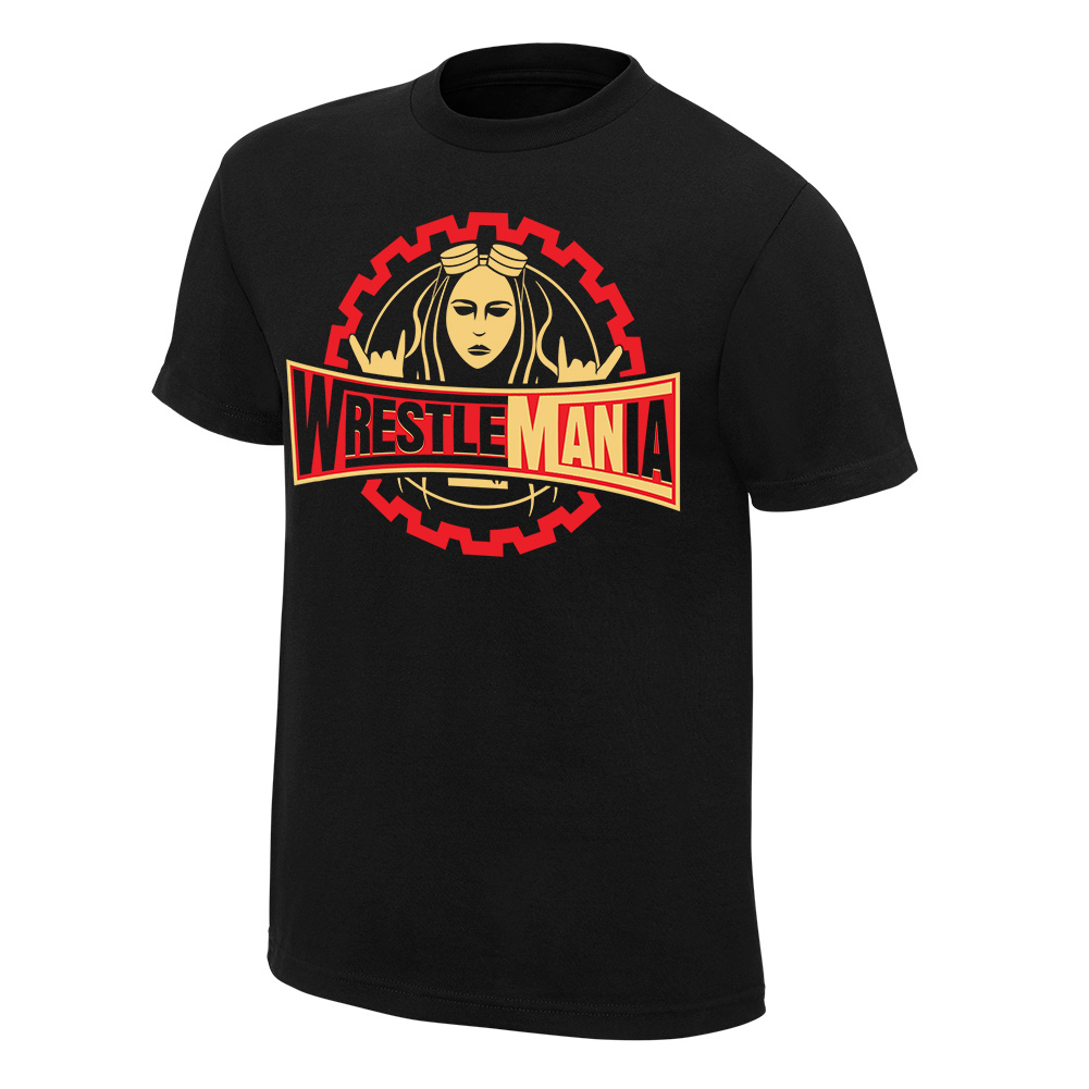 """Official Wwe Authentic Becky Lynch """"Wrestlemania"""" T-Shirt Black Small"""