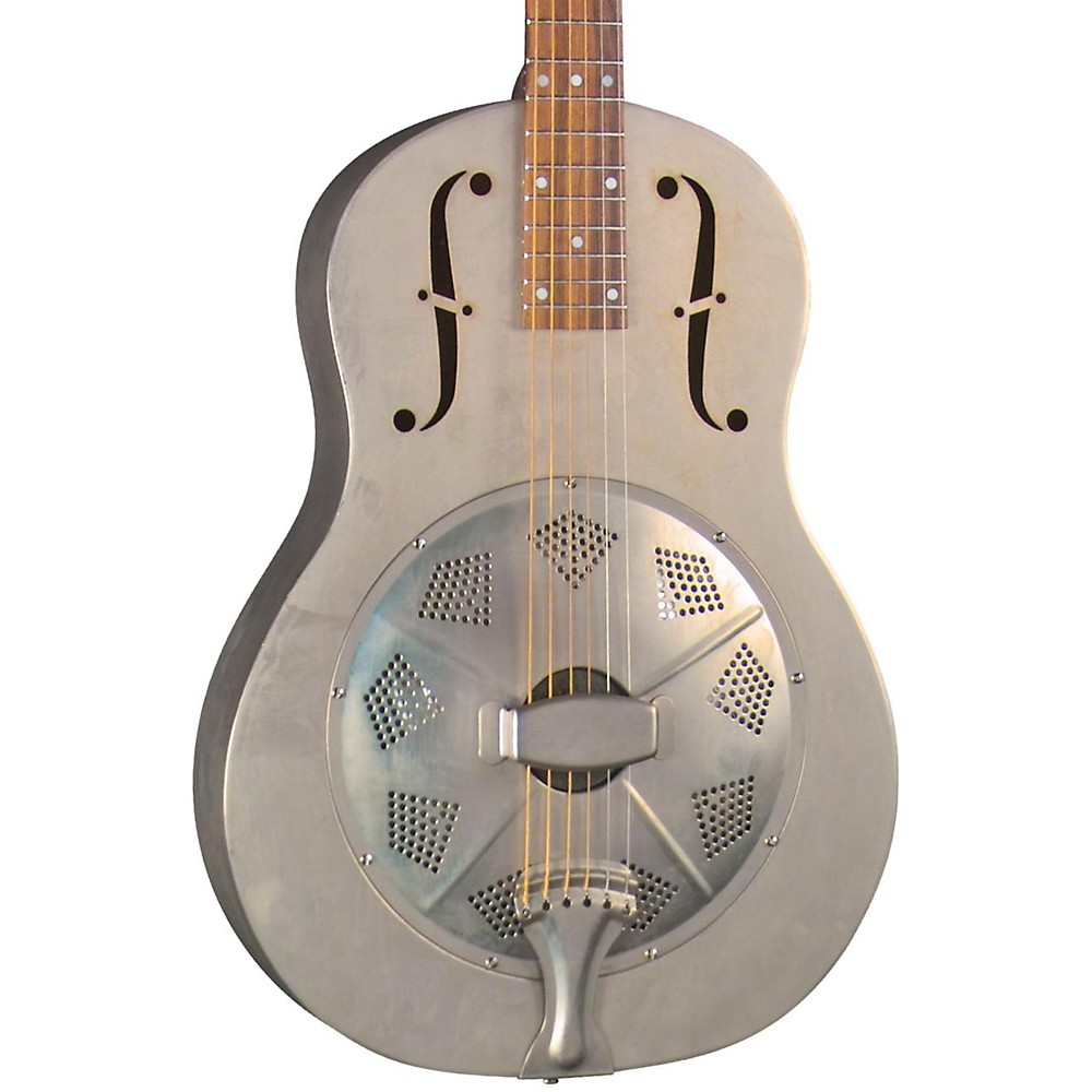 Regal RC-43 Antiqued Nickel-Plated Body Triolian Resonator Guitar Antique nickel-plated by Regal