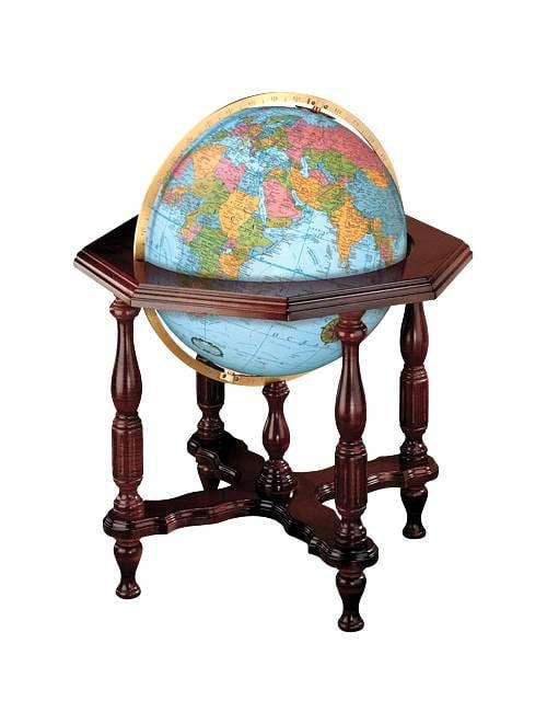 20 Inch Globe w Hand Cut Map & Illuminated Core by Replogle Globes