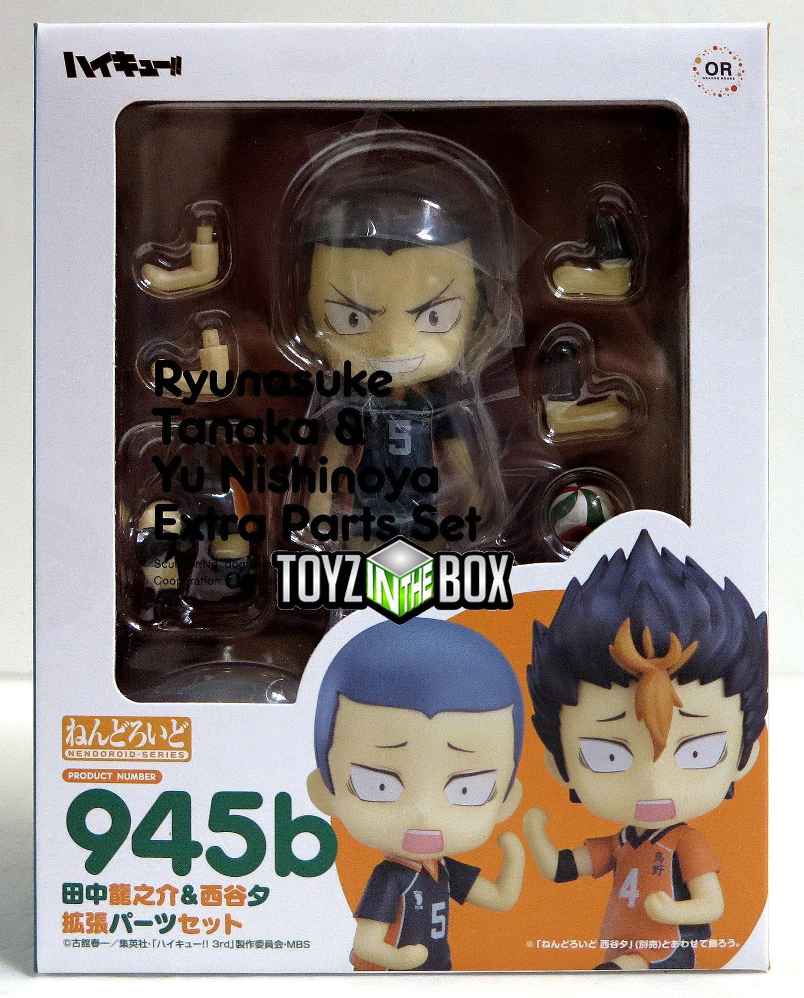 "In STOCK Haikyu /""Ryunosuke Tanaka/"" /& Extra Parts 945b Nendoroid Action Figure"