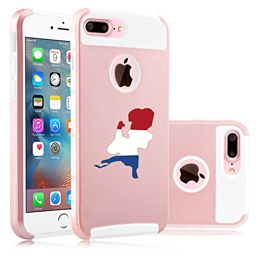 For Apple (iPhone 8 Plus) Shockproof Impact Hard Soft Case Cover Netherlands...