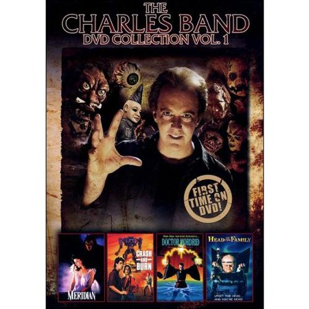 Charles Band DVD Collection, Vol. 1: Meridian / Crash And Burn / Doctor Mordrid / Head Of The Family  Meridian  (1990) - A beautiful young artist must choose her destiny in this hauntingly sensual tale of love, passion and revenge. Catherine Bomarzini (Sherilyn Fenn) returns to the family castle in Italy after her father's death and gets caught in the web of a mysterious love triangle: a man (Malcolm Jamieson) who is at times repulsive, at others enchanting; and a creature of the night whose gentle eyes and touch reveal his infinite love and devotion. With the help of Martha (Hillary Mason), her faithful childhood nanny, and the ghost of a slain young girl, Catherine discovers the medieval curse that threatens their lives and only she can dispel.  Crash And Burn  (1990) - It's the year 2030 and a man's worst nightmares have become an oppressive reality. Ultra violet rays have punched through the ozone layer and parched the earth, dooming it to eternal summer.  Big Brother  has come to life in the form of Unicom, a multi-national corporation that has taken control of the world. A group of dissenters, Lathan Hooks (Ralph Waite) and his granddaughter Arren (Megan Ward) have formed the Independent Liberty Union, to fight Unicom's autocracy, and destroy the human-like synthoid robots programmed to kill all who pose a threat to Unicom.  Doctor Mordrid  (1992) - Doctor Mordrid (Jeffery Combs,  Re-Animator ,  From Beyond ) has been guarding the gates to the fourth dimension for over a century and now the signs are clear, his eternal foe, Kabal (Brian Thompson,  Cobra ,  Terminator ) has crossed over and is about to carry out his threat to destroy humankind. It's a battle between two sorcerers with boundless powers and only once man will reign in the end.  Head Of The Family  (1996) - Something's twisted in Nob Hollow. In the midst of a torrid affair with a biker's wife, Lance discovers that the tiny town's weirdest residents, the Stackpoole family, have been doing some hideous human experiments in the bowels of their basement. Lance blackmails Myron Stackpool and his psy