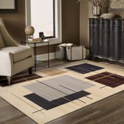 Superior Modern Stella Geometric Collection with 10mm Pile and Jute Backing, Moisture Resistant and Anti-Static Indoor Area Rug