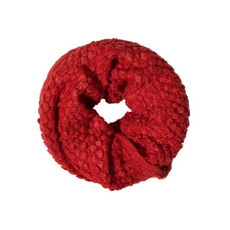 Infinity Style, High Quality Knit Cowl- Red Circle/ Loop Scarf ()