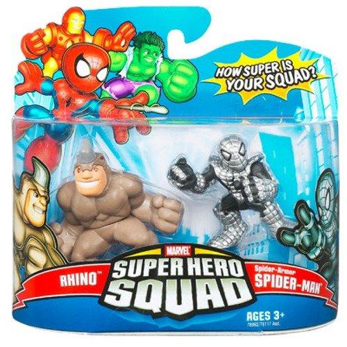 Marvel Super Hero Squad Rhino & Spider-Armor Spider-Man 2...