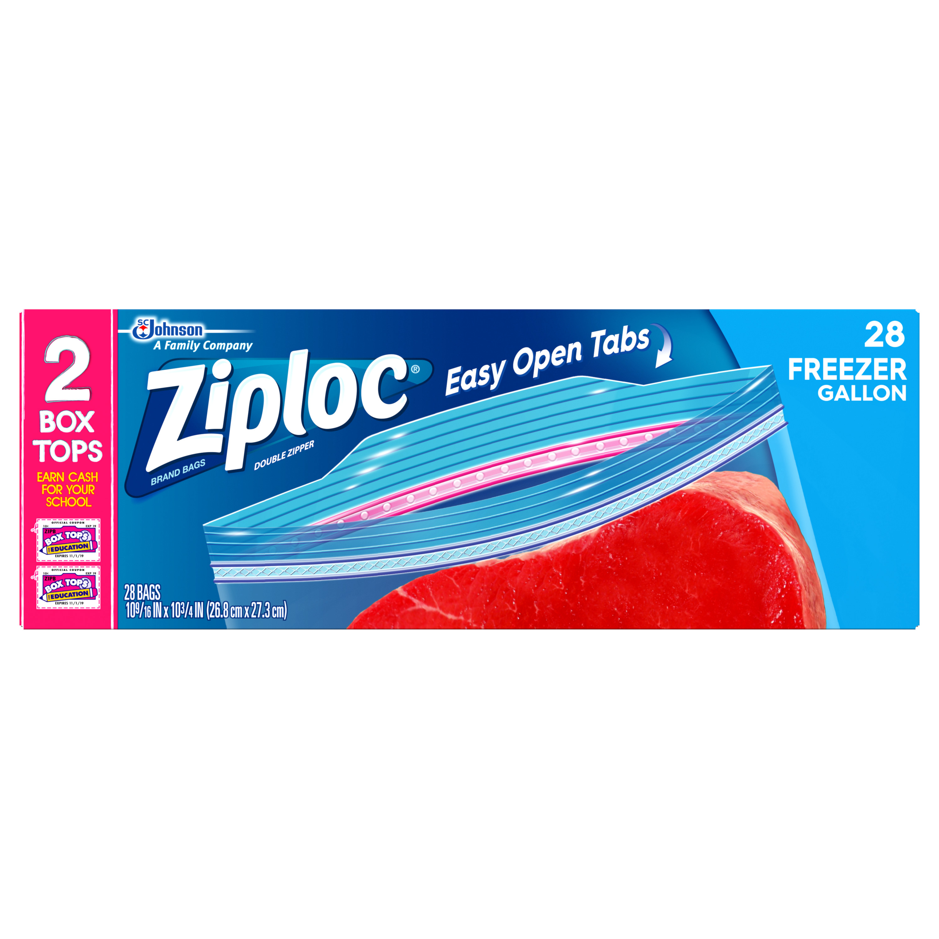 Ziploc Freezer Bags Gallon 28 count
