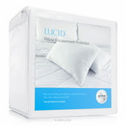 Lucid Zippered Pillow Encasement Bed Bug and Waterproof Pillow Protector