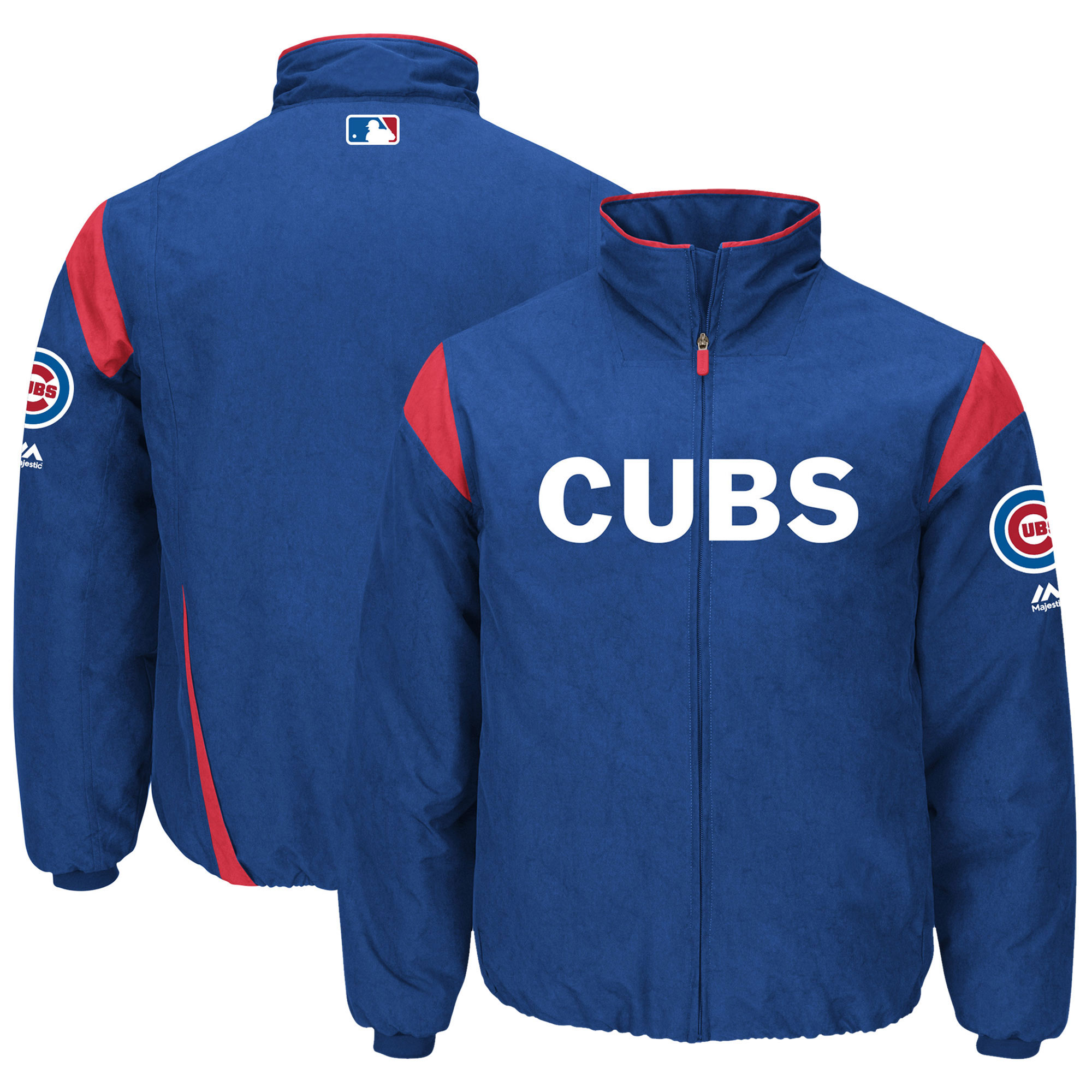 Chicago Cubs Majestic On-Field Therma Base Thermal Full-Zip Jacket - Royal