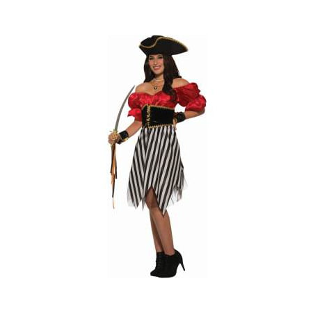 Womens Pirate Matey Lady Halloween Costume (Woman Pirate Costumes)