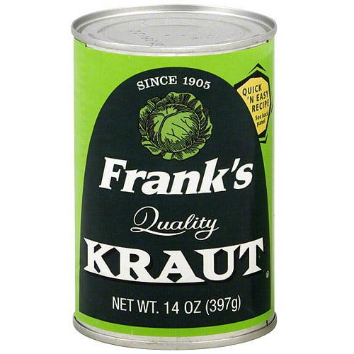 Frank's Shredded Kraut, 14 oz (Pack of 24)