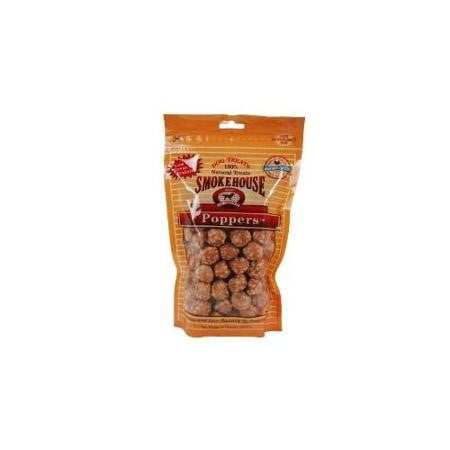 SmokeHouse Poppers Chicken Dog Treats, 8 Oz by Smokehouse