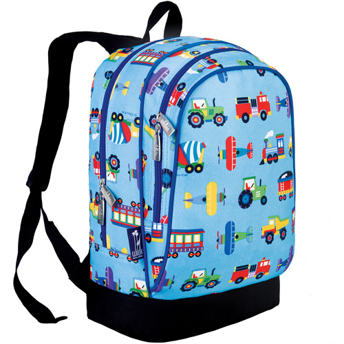 Wildkin Olive Kids Trains, Planes & Trucks Sidekick Backpack by Wildkin
