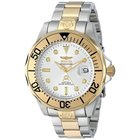 47mm Men's 3050 Pro Diver Grand Diver Date GT Automatic 2 Tone SS Watch (Invicta Watch 47mm)