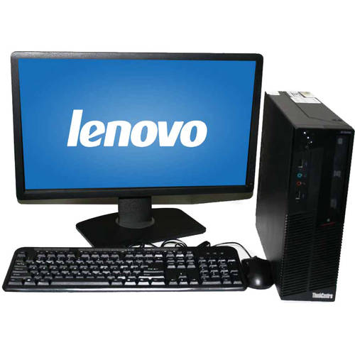 "Refurbished Lenovo M90 SFF Desktop PC with Intel Core i5-650 Processor, 4GB Memory, 22"" LCD Monitor, 250GB Hard Drive and Windows 10 Home"