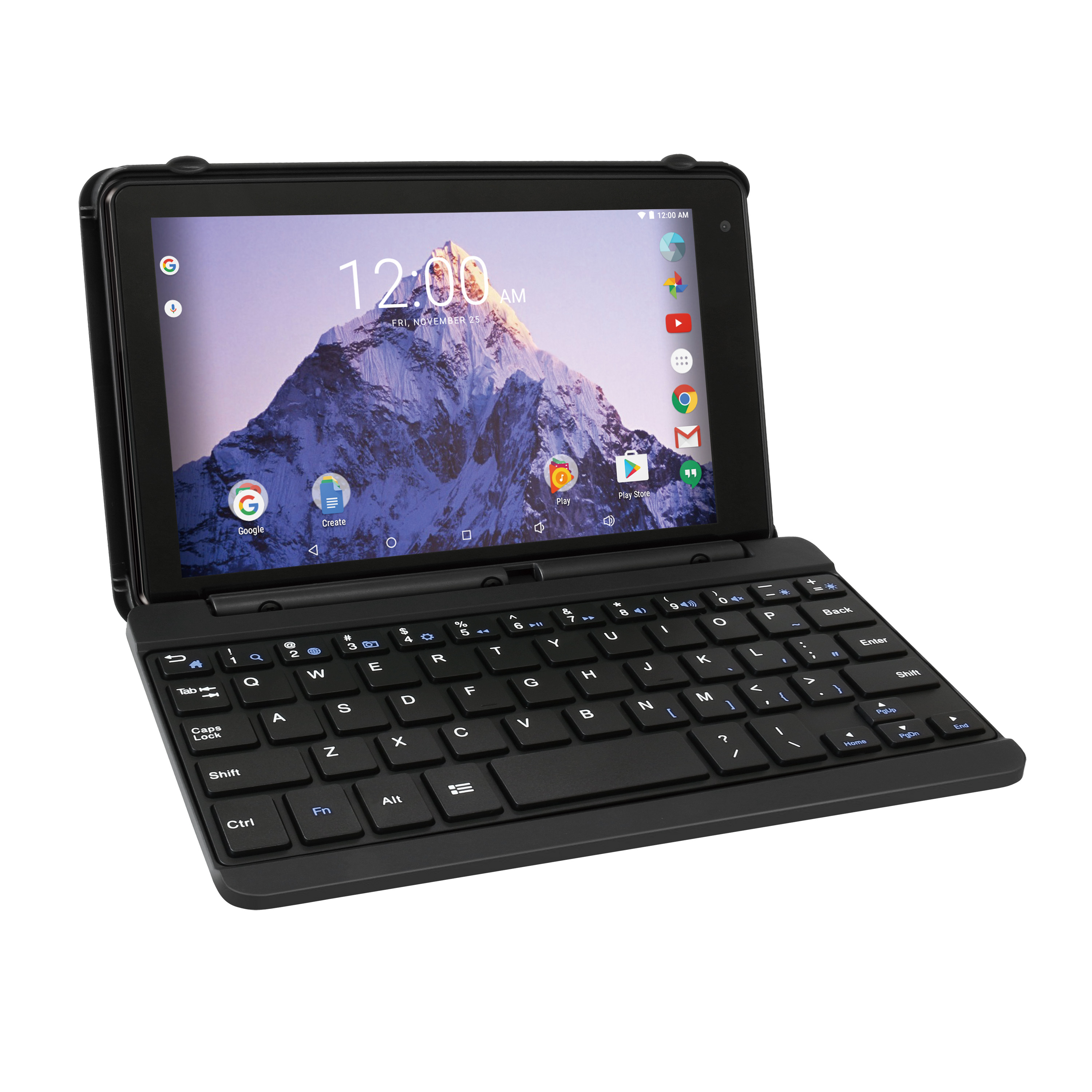 """RCA Voyager 7"""" 16GB Tablet with Keyboard Case Android 6.0 (Black)"""