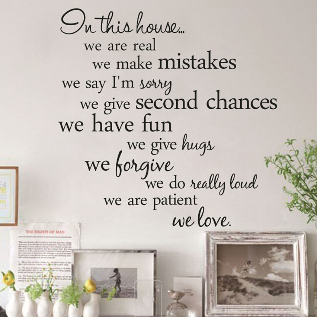 Outgeek Wall Stickers Creative English Letter Removable Wall Decals Wall Decor Decals Quote Wall Stickers for Home Bedroom Living Room Bathroom Decor