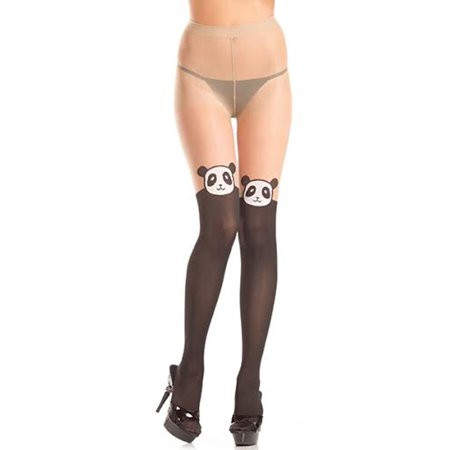 Panda Design Pantyhose - Pantyhose With Designs