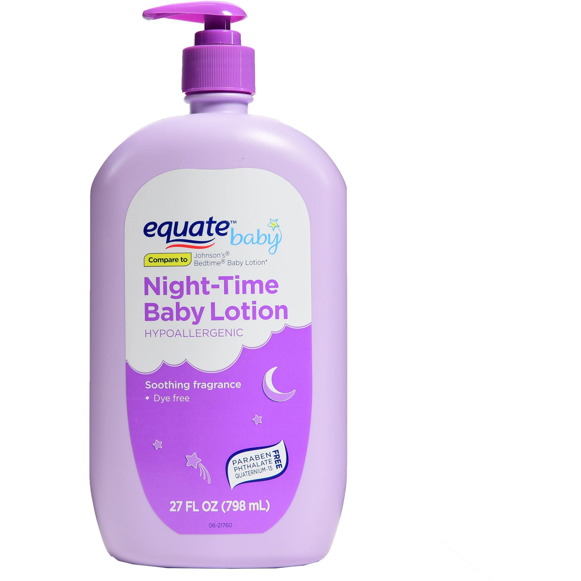 (2 pack) Equate Night-Time Baby Lotion, 27 Fl Oz