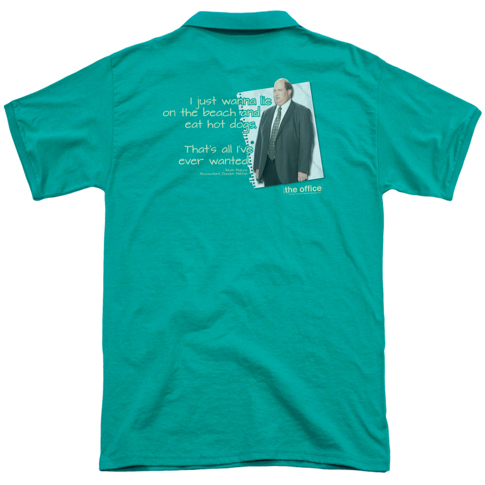 The Office Kevin'S Dream (Back Print) Mens Polo Shirt