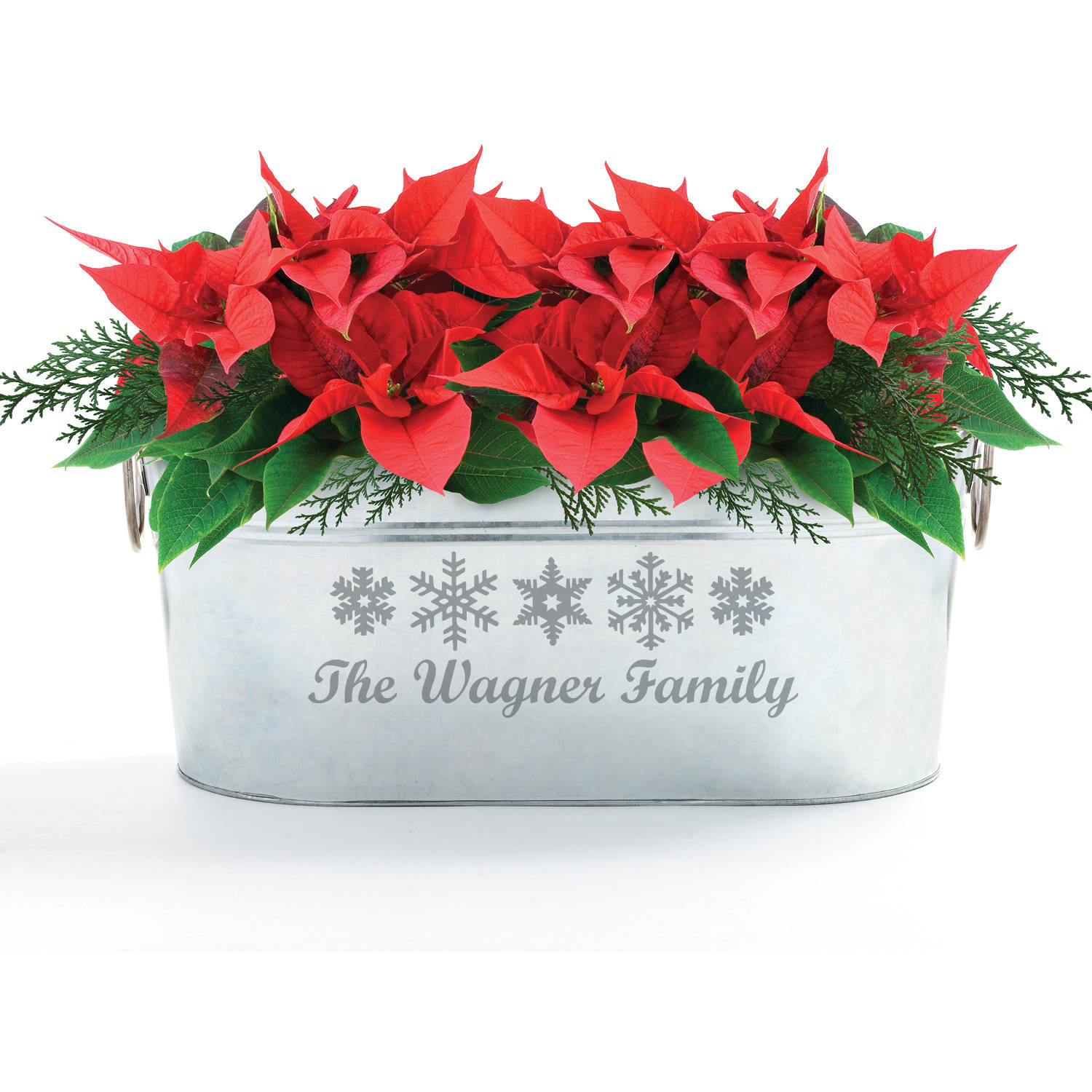 Happy Holidays Personalized Beverage Tub