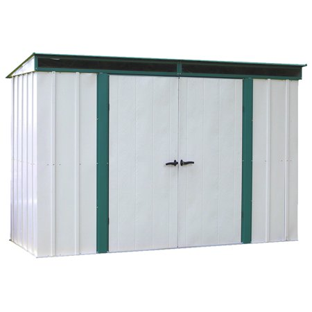 Euro-Lite 10 x 4 ft. Steel Storage Shed Pent Roof