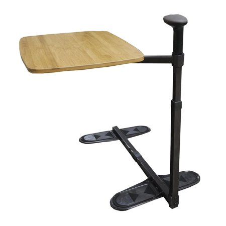 Swivel Tray (Stander Omni Tray - Swivel Bamboo TV Tray Table & Support Handle, Independence daily support and standing aid, Galaxy Brown, Over)