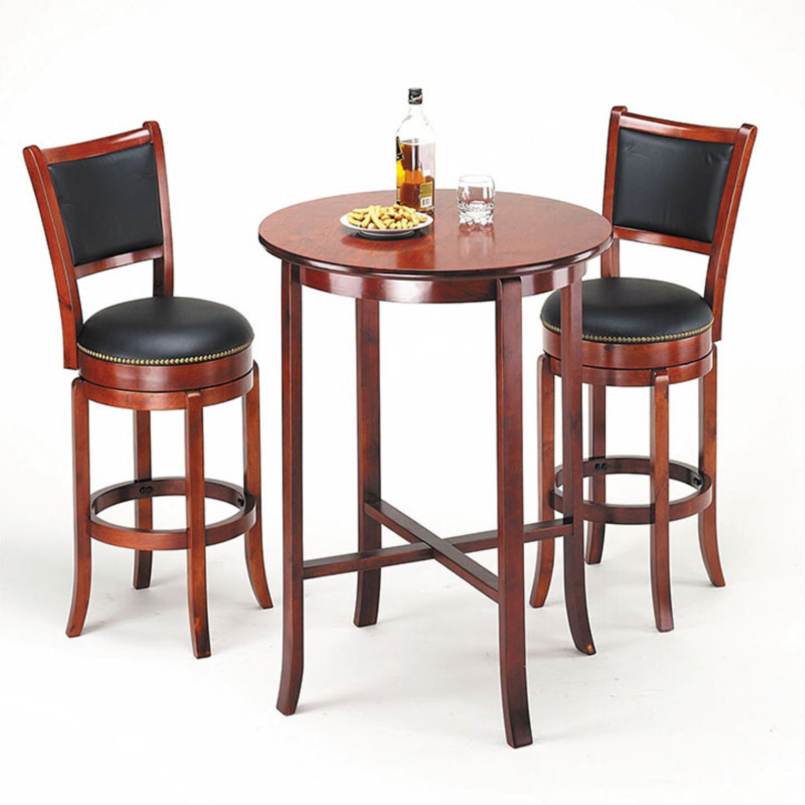 Acme Furniture Chelsea 3 Piece Round Pub Table Set by Acme Furniture
