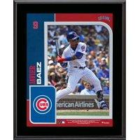 """Javier Baez Chicago Cubs 10.5"""" x 13"""" Sublimated Player Plaque"""