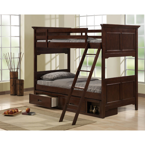 Woodhaven Hill Jordan Twin Bunk Bed with Storage