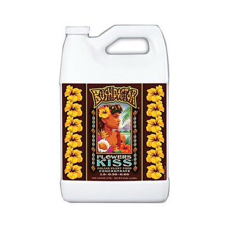 Bushdoctor Flowers Kiss Liquid Fertilizer, 1 Gal., Hydrofarm,