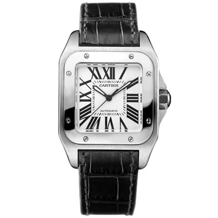 Cartier Santos de Cartier 35.6 mm Automatic Mother of pearl Dial Stainless Steel Unisex Watch W20106X8