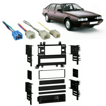 Fits Mazda 626 1986-1989 Single DIN Aftermarket Harness Radio Install Dash  Kit