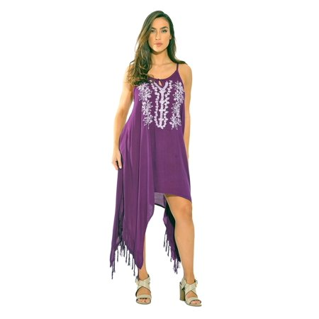 e1486f4ada19 Riviera Sun - Riviera Sun Fringe Dress   Sundresses for Women (Purple