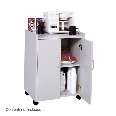 - Safco 8953GR Hospitality Carts Mobile Refreshment Center