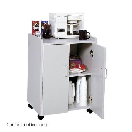 - Safco 8953GR Hospitality Carts Mobile Refreshment Center