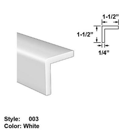 Slippery UHMW Plastic Corner-Mount Screw-In Trim, Style 003 - Ht. 1-1/2