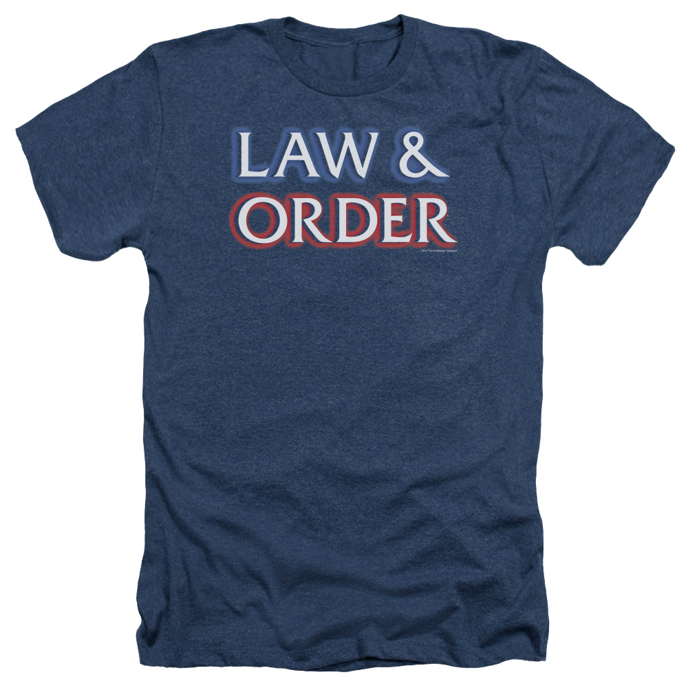 Law & Order Logo Mens Heather Shirt
