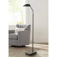Possini Euro Design Modern Pharmacy Floor Lamp Dark Bronze Metal Adjustable Shade Halogen Bulb for Living Room Reading Office