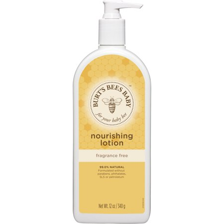 Burt's Bees Baby Nourishing Lotion, Fragrance Free Baby Lotion - 12 oz Bottle
