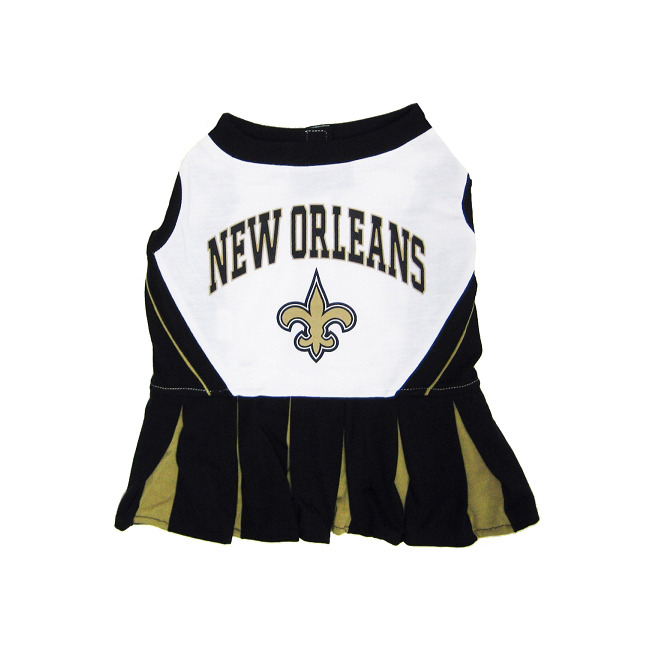 New Orleans Saints NFL Dog Cheerleader Outfit - Medium