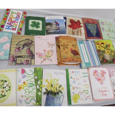 Birthday and Seasonal Cards 50 with Envelopes Count Value